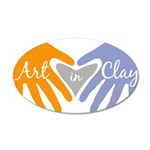 Art in Clay / Heart / Hands 20x12 Oval Wall Decal