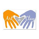 Art in Clay / Heart / Hands Car Magnet 20 x 12