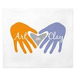 Art in Clay / Heart / Hands King Duvet