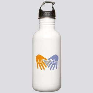 Art in Clay / Heart / Hands Stainless Water Bottle