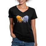 Art in Clay / Heart / Hands Women's V-Neck Dark T-