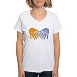 Art in Clay / Heart / Hands Women's V-Neck T-Shirt