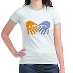 Art in Clay / Heart / Hands Jr. Ringer T-Shirt