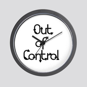 """""""Out of Control"""" Wall Clock"""