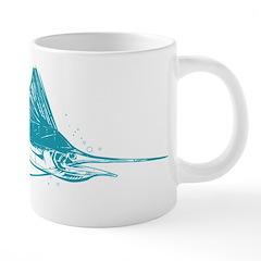 Sailfish Teal 20 oz Ceramic Mega Mug