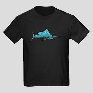Sailfish Teal Kids Dark T-Shirt