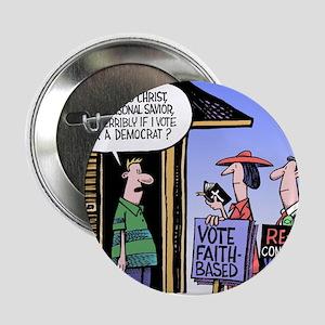 """Religion Politics 2.25"""" Button"""