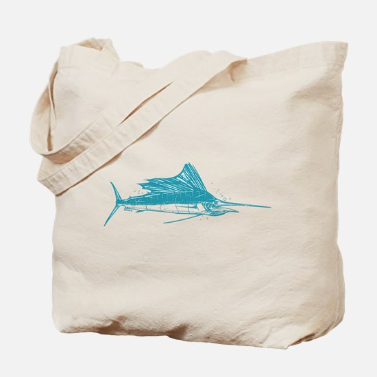 Sailfish Teal Tote Bag