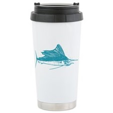 Sailfish Teal 16 oz Stainless Steel Travel Mug