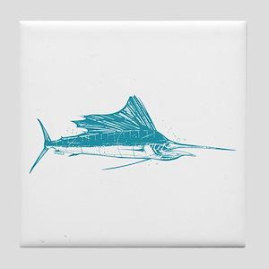 Sailfish Teal Tile Coaster