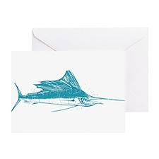 Sailfish Teal Greeting Card
