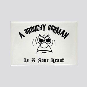 Grouchy German Rectangle Magnet