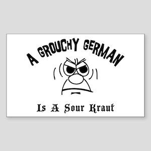 Grouchy German Rectangle Sticker