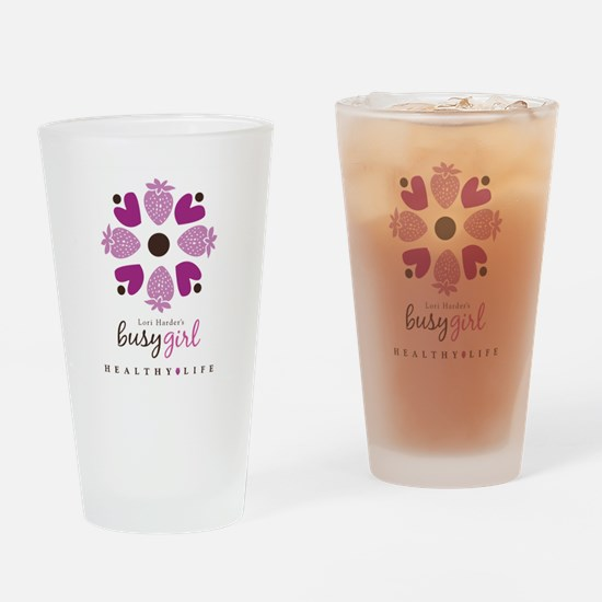 Busy Girl Healthy Life Drinking Glass