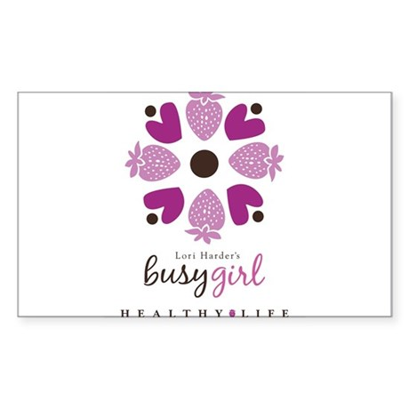 Busy Girl Healthy Life Sticker (Rectangle)