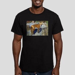 Red Fox (Vulpes vulpes) Men's Fitted T-Shirt (dark