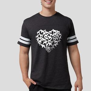 Standard Schnauzer Heart T-shi Mens Football Shirt