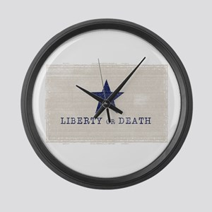 Texas vintage flag Large Wall Clock