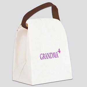 Grandma of Four Canvas Lunch Bag