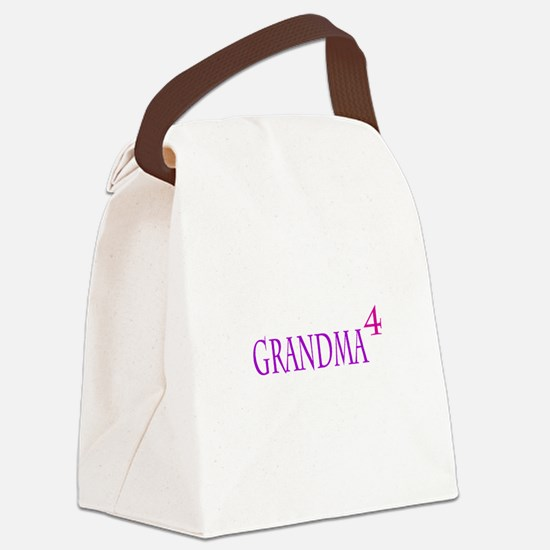 Grandma of Four Canvas Lunch Bag