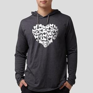 Tibetan Spaniel Heart T-shirt Mens Hooded Shirt