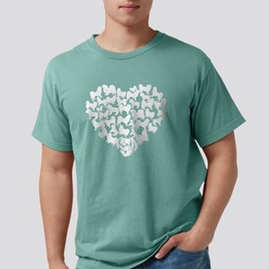 Tibetan Spaniel Heart T- Mens Comfort Colors Shirt