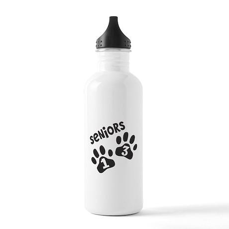 Seniors 2013 Paw Prints Stainless Water Bottle 1.0