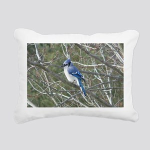 Blue Jay Rectangular Canvas Pillow