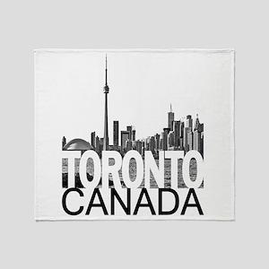 Toronto Skyline Throw Blanket