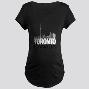 Toronto Skyline Maternity Dark T-Shirt