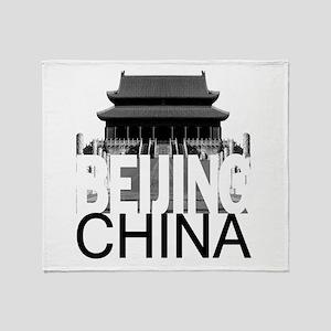 Beijing Skyline Throw Blanket