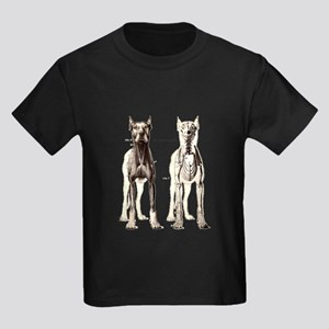 Dog Skeleton: Time to Panic Kids Dark T-Shirt