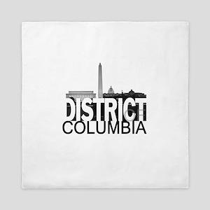 District of Columbia Skyline Queen Duvet