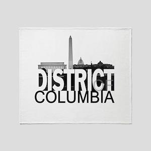 District of Columbia Skyline Throw Blanket