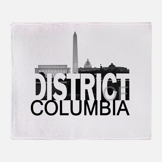 District of Columbia Skyline Throw Blanket
