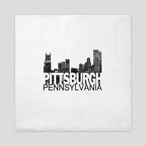 Pittsburgh Skyline Queen Duvet
