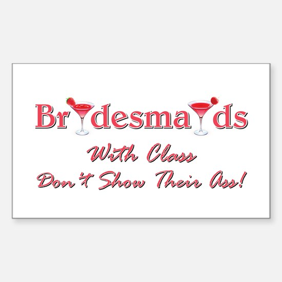 BRIDESMAIDS... Sticker (Rectangle)