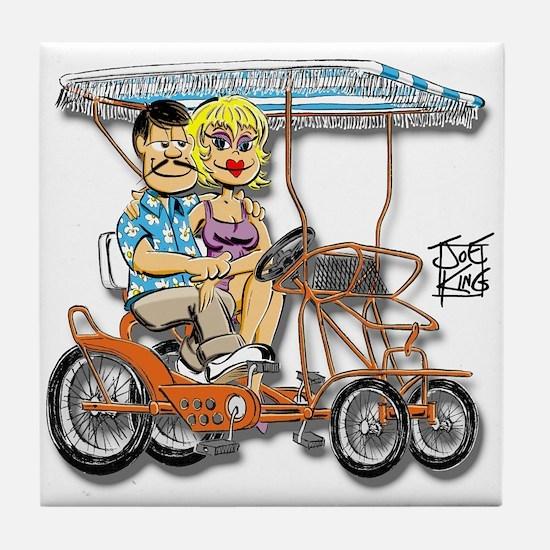 """THOSE SURREY GUYS"" Tile Coaster"