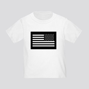e57903d993 Black And White American Flag Toddler T-Shirts - CafePress