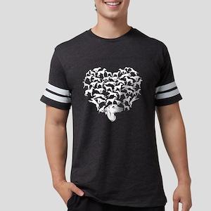 Whippet Heart T-shirt Mens Football Shirt