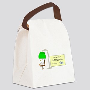 Free Perm Canvas Lunch Bag