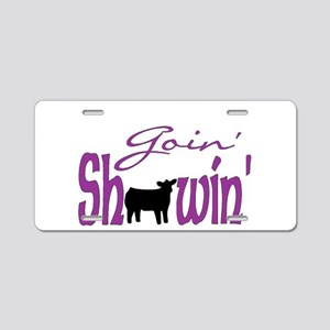 Black heifer Aluminum License Plate