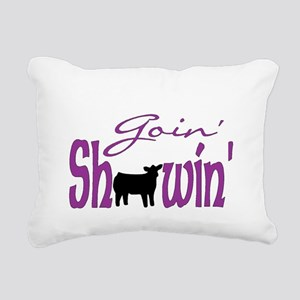 Black heifer Rectangular Canvas Pillow