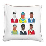 English Riding Horses Square Canvas Pillow