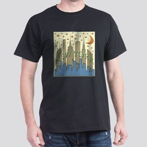 New York City Skyline beachy Dark T-Shirt