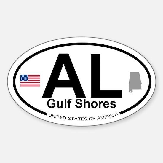 Gulf Shores Sticker (Oval)