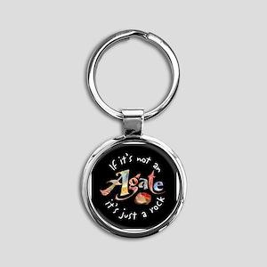 Agate Collector Round Keychain