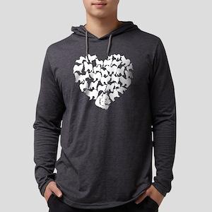 Samoyed Heart T-shirt Mens Hooded Shirt
