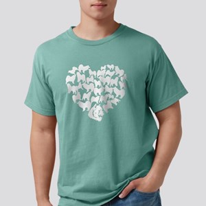 Samoyed Heart T-shirt Mens Comfort Colors Shirt
