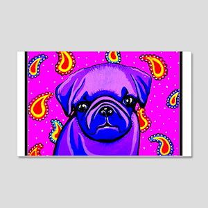 Purple Pug 20x12 Wall Decal